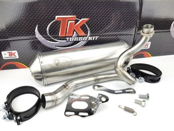 Edelstahl Turbo Kit Sport Auspuff Yamaha Majesty YP250 4UC 250 4T LC