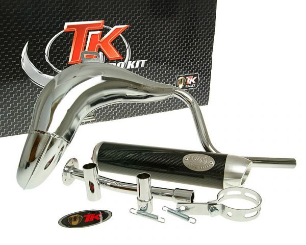 Turbo Kit Bufanda RQ Chrom Carbon Sport Auspuff Rieju RR50 AM6 ab 2006