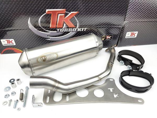 Edelstahl Turbo Kit G Max Sport Auspuff Daelim Besbi 125 4T 2007-2018