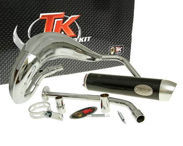 Auspuff Turbo Kit Bufanda RQ Chrom/Carbon Sport Yamaha DT 50 AM6 ab 03