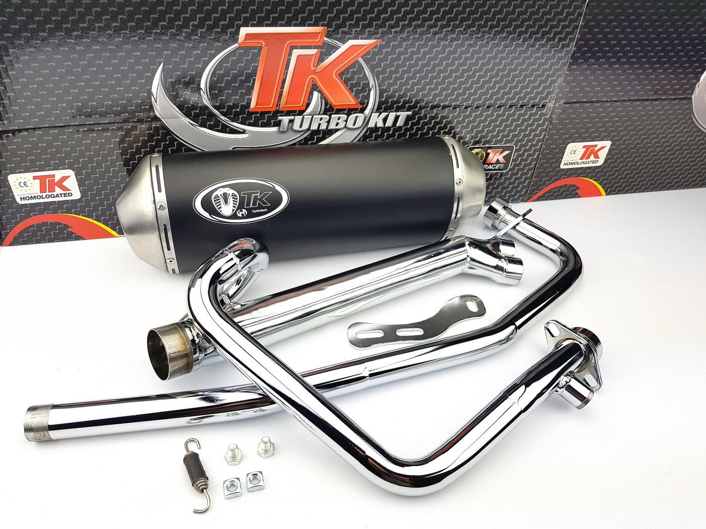 Turbo Kit X-Road 2-in-1 Edelstahl Auspuff Hyosung GT N E3