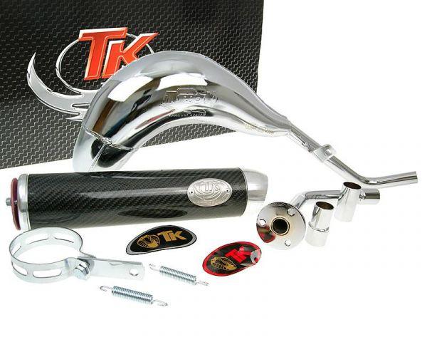 Turbo Kit Bufanda RQ Chrom Carbon Auspuff Beta RRT ALU 50 AM6 03-15
