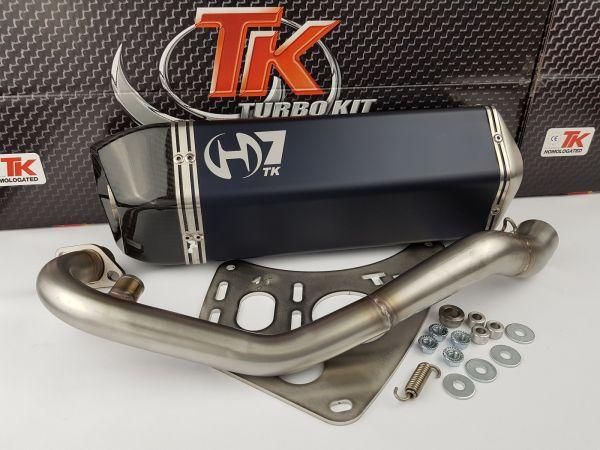 Turbo Kit GMax H7 Auspuff Aprilia Derbi Gilera Piaggio MP3 X7 250 300