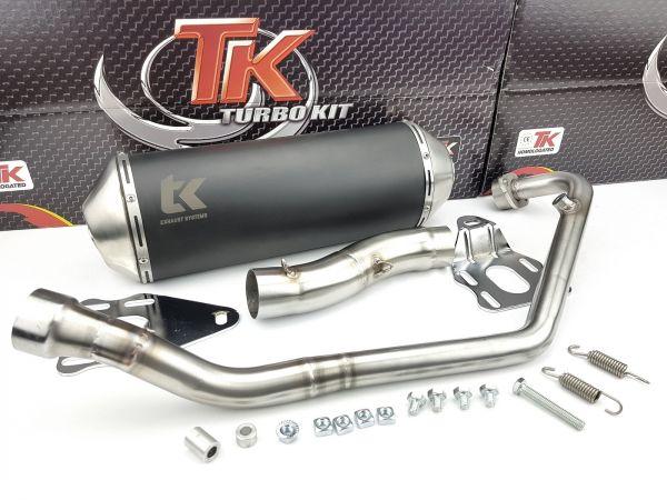Turbo Kit X Road Edelstahl Sport Auspuff KEEWAY RKF 125 125i 4 Takt