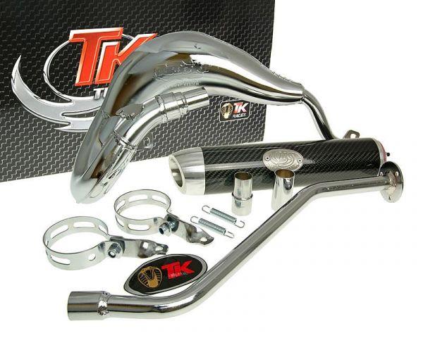 Turbo Kit Bufanda RQ Chrom/Carbon Auspuff Generic Trigger Keeway X AM6
