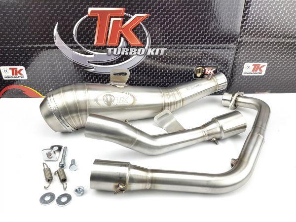 Edelstahl Turbo Kit ROAD GP Sport Auspuff Honda CBR CB 125 R 4 Takt
