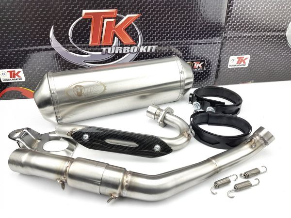 Edelstahl Turbo Kit Sport Auspuff UM DSR Derbi Terra Adventure 125 4T