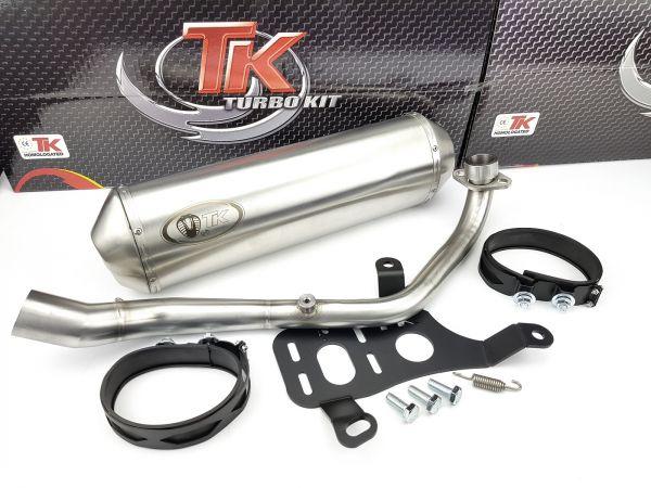 Edelstahl Turbokit Sport Auspuff Kymco Downtow Superdink Kawasaki J300