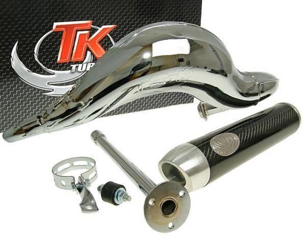 Sport Auspuff Turbo Kit Road RQ Chrom/Carbon Derbi D50B0 H10083Q