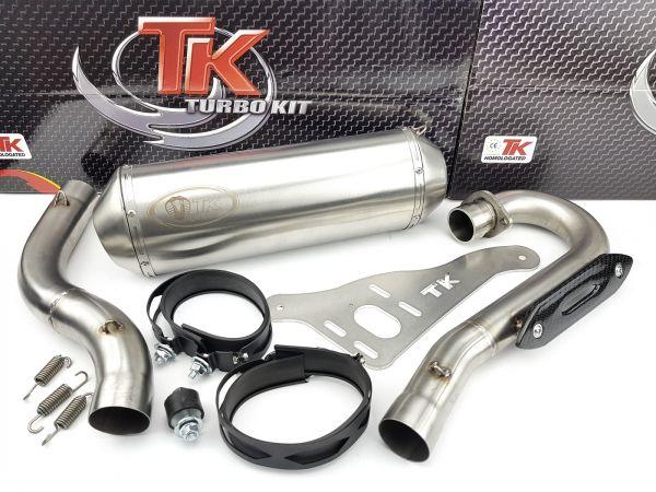 Edelstahl Auspuff Turbo Kit Sport Auspuffanlage Kawasaki KXF 450 Quad