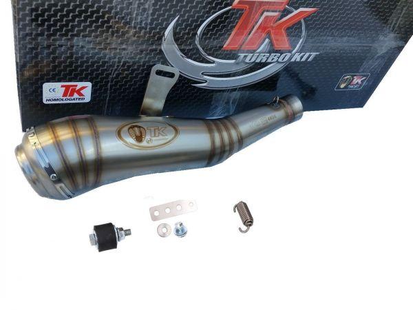 Turbokit GP Slip-On Edelstahl Sport Auspuff KTM Duke 125i 200 17-20 4T
