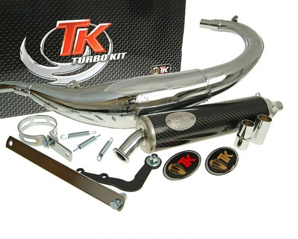 Sport Auspuff Turbo Kit Bajo RQ Chrom/Carbon Yamaha DT50 50 AM6 AB 03