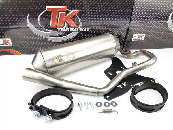 Turbo Kit Edelstahl Sport Auspuff Kymco Grand Dink 08-11 Yager GT 125