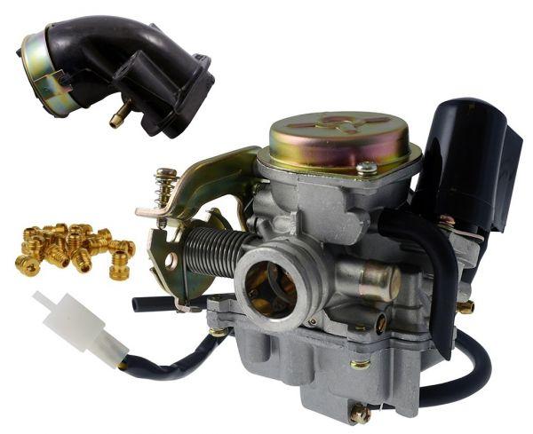 Vergaser SET 19mm Buffalo Flex Tech Jmstar 139QMB/QMA GY6 4 Takt 50