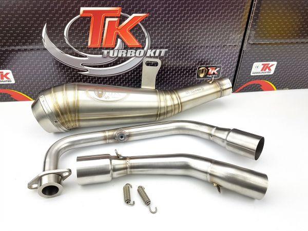 Edelstahl Turbo Kit X Road GP Sport Auspuff KEEWAY RKF 125 125i 4T