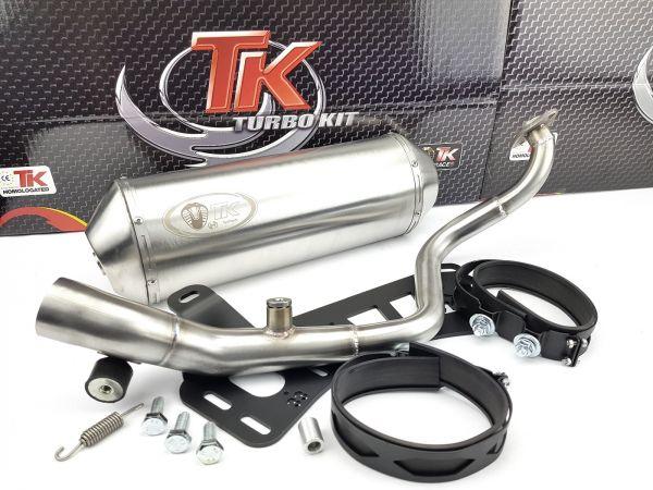 Edelstahl Turbokit Max Sport Auspuff Honda @ Nes Passion Scoopy 125 4T