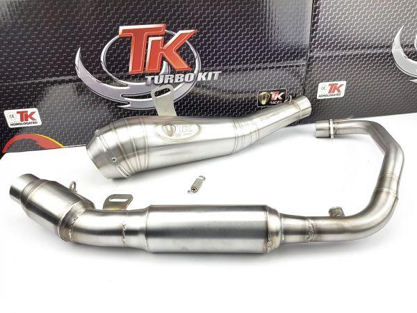 Turbo Kit ROAD GP Edelstahl Sport Auspuff Kawasaki Ninja 125 Z 18-19