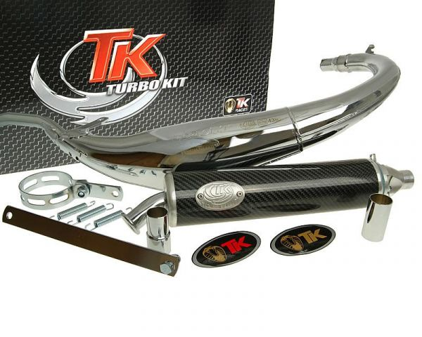 Sport Auspuff Turbo Kit Bajo RQ Chrom/Carbon HM Moto CRE Enduro 50 AM6