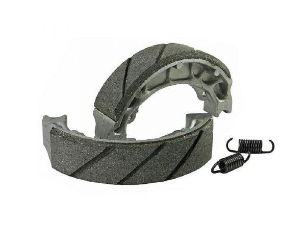 Grooved Bremsbackensatz mit Federn für Trommelbremse 110x25mm Hinten
