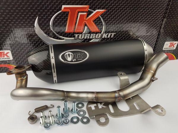 Turbo Kit H2 Carbon Edelstahl Sport Auspuff Yamaha N-Max Nmax 125 ab16