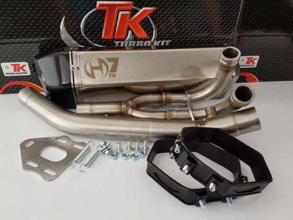 Turbo Kit H7 Carbon Sport Auspuff Yamaha Tmax 500 530 500i 530i 04-18