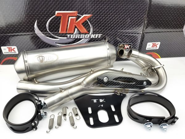 Turbo Kit 2-in-1 Edelstahl Sport Auspuff Yamaha YFM 660 R Raptor QUAD