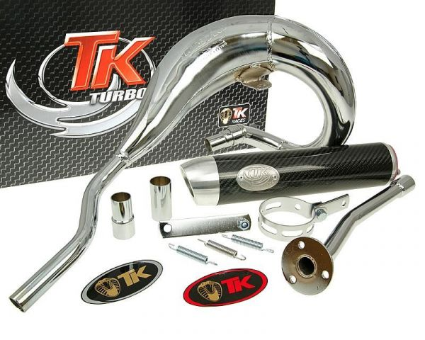 Sport Auspuff Turbo Kit Bufanda RQ Chrom/Carbon Aprilia RX 99-05 AM6