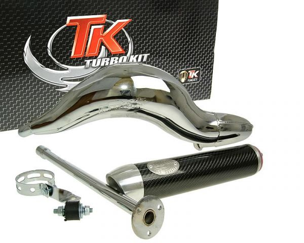Sport Auspuff Turbo Kit Road RQ Chrom/Carbon Aprilia D50B0 H10087-Q