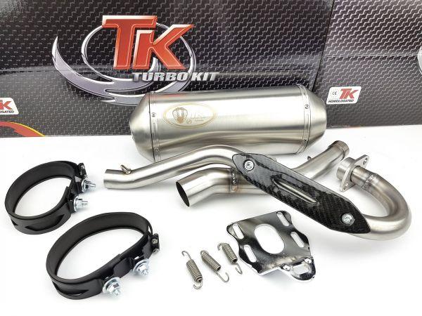 Edelstahl Auspuff Turbo Kit Sport Rieju MRT Marathon Pro 125 LC 4T