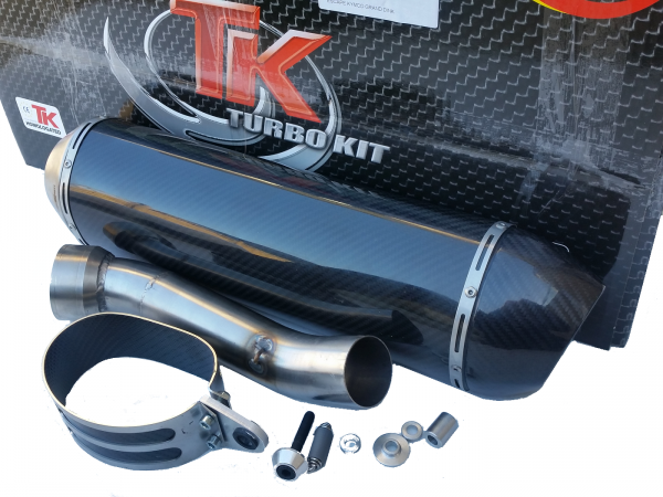 Turbo Kit SLIP-ON Edelstahl Carbon Oval Auspuff BMW R 1200 GS 10-13