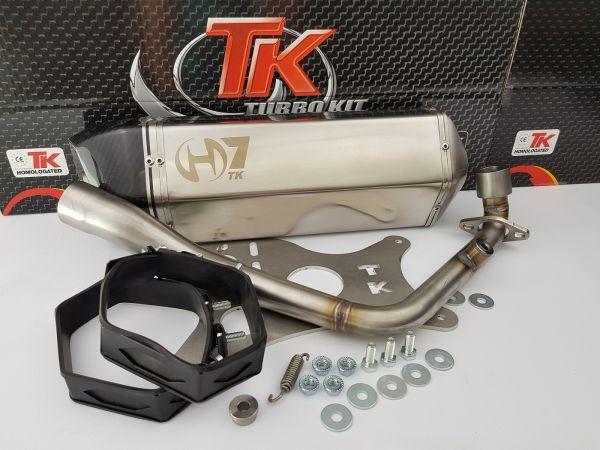 Auspuff Turbo Kit GMax H7 Carbon Edelstahl Sport Daelim S3 FI 125 4T