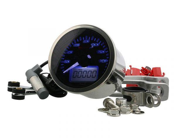 Tachometer D64 Eclipse Style max 160 km/h Schwarz Analog Roller ATV