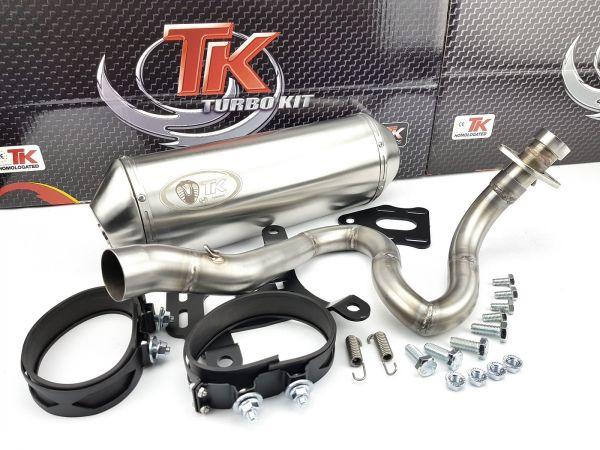 Edelstahl Turbo Kit Auspuff Honda Foresight FES Forza Jazz NSS 250 4T