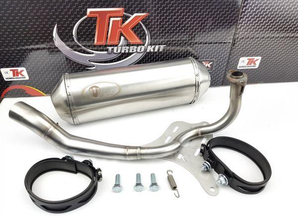 Edelstahl Auspuff Turbo Kit Sport Honda Forza ABS 125i LC 4 Takt ab 16