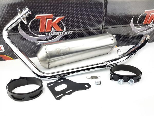 Edelstahl Turbo Kit Road Sport Auspuff Kymco Quannon Naked 125 4T