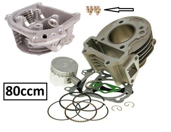 Zylinderkit Sport 80ccm Mit SLS Baotian REX Kymco 139QMB/QMA GY6 50 4T