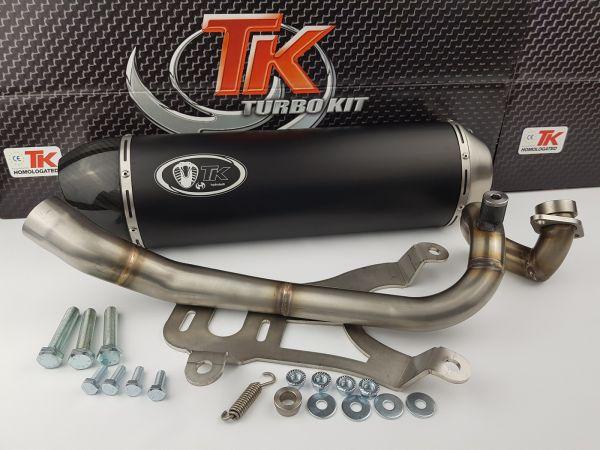 Turbo Kit Sport Edelstahl Carbon Auspuff MBK YAMAHA X Max City 250 4T