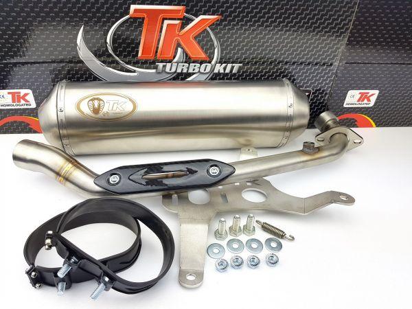 Turbo Kit GMax Edelstahl Sport Auspuff Kymco Xciting 400 400i ab 14 4T