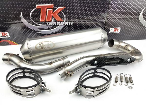 Edelstahl Turbo Kit Road Sport Auspuff KTM EXCR EXC R 450 525 08-12 4T