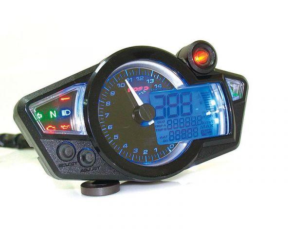 Multifunktions Tacho KOSO Digital Cockpit RX1N GP Style schwarz/blau