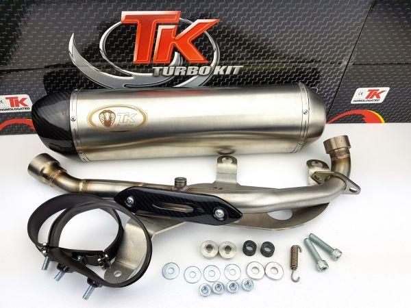 Turbo Kit H2 Edelstahl Sport Auspuff Kymco K-XCT 300i SK60BA ab 2013