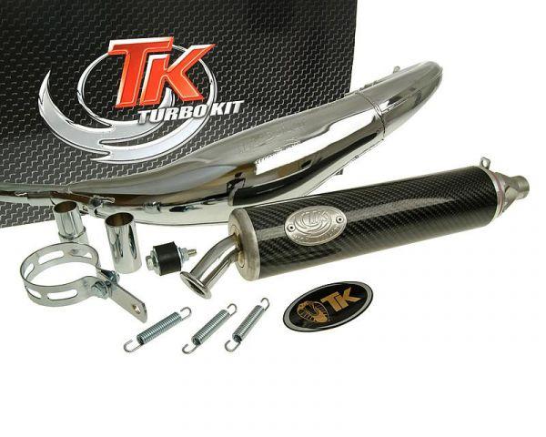 Sport Auspuff Turbo Kit Road RQ Chrom/Carbon Rieju-RS2 50 AM6 H10078-Q