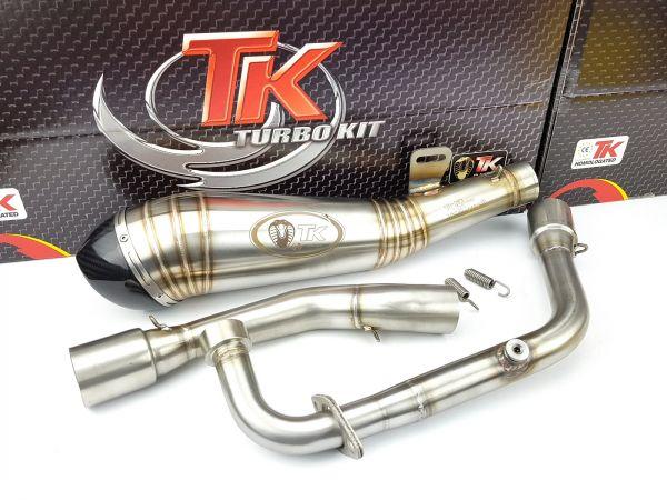 Turbo Kit GP Edelstahl Sport Auspuff KEEWAY RKS Ride Zento 125 4 Takt