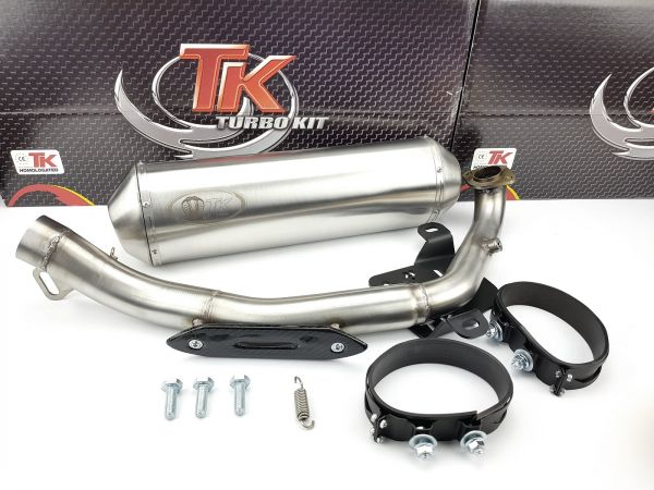 Edelstahl Turbo Kit Sport Auspuff Kymco Xciting EVO SBA0BB 500 500i 4T