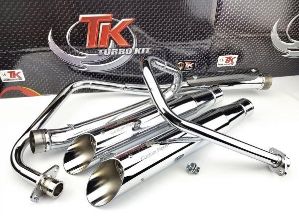 Turbo Kit Custom Style Chrom Sport Auspuff YAMAHA XV VIRAGO 125 250 4T