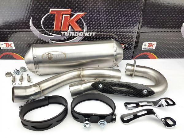 Edelstahl Turbo Kit Sport Auspuff Quad ATV für Yamaha YFZ 450 4 Takt