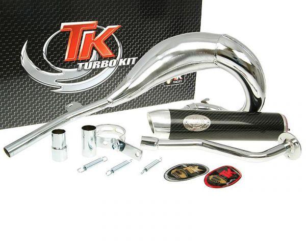 Auspuff Turbo Kit Bufanda RQ Chrom/Carbon Gilera GSM H@K Enduro Morini