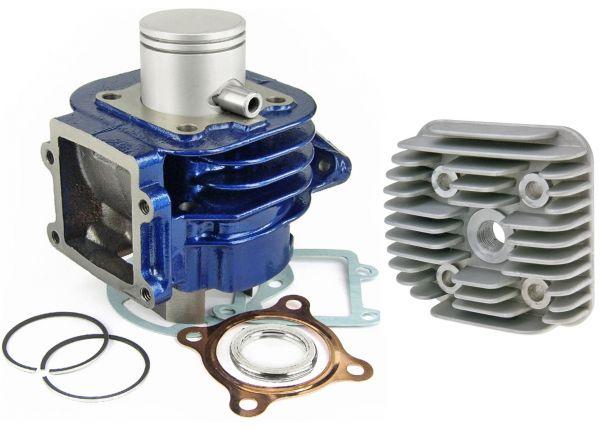 Carenzi 50ccm Sport BlueLine Zylinderkit Aprilia MBK Yamaha 50 stehend