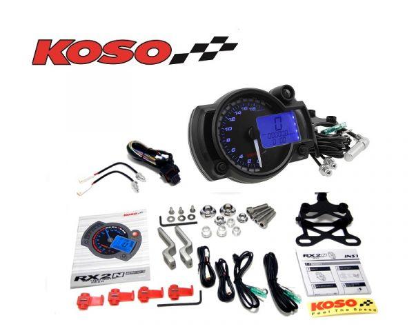 Tachometer KOSO digital RX2N+ GP-Style Speedometer 20.000 Roller Quad