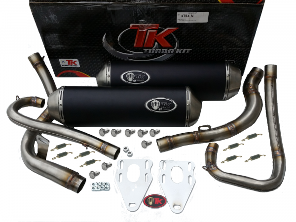 Turbo Kit Sport Edelstahl Double Auspuff KTM DUKE 640 LC4 00-07 4T